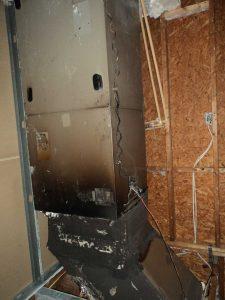 Cocoa Beach Public Adjuster Fire Damage Burnt-Air handler-AC