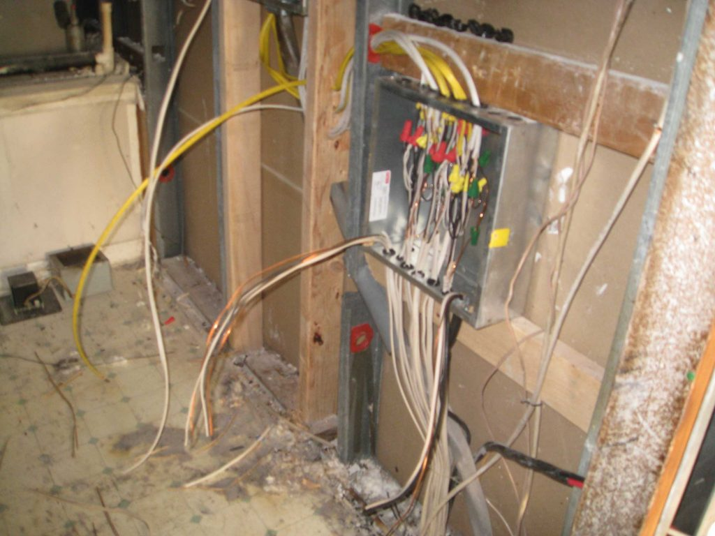 Insurance Contractors Wires Spliced in Junction Box